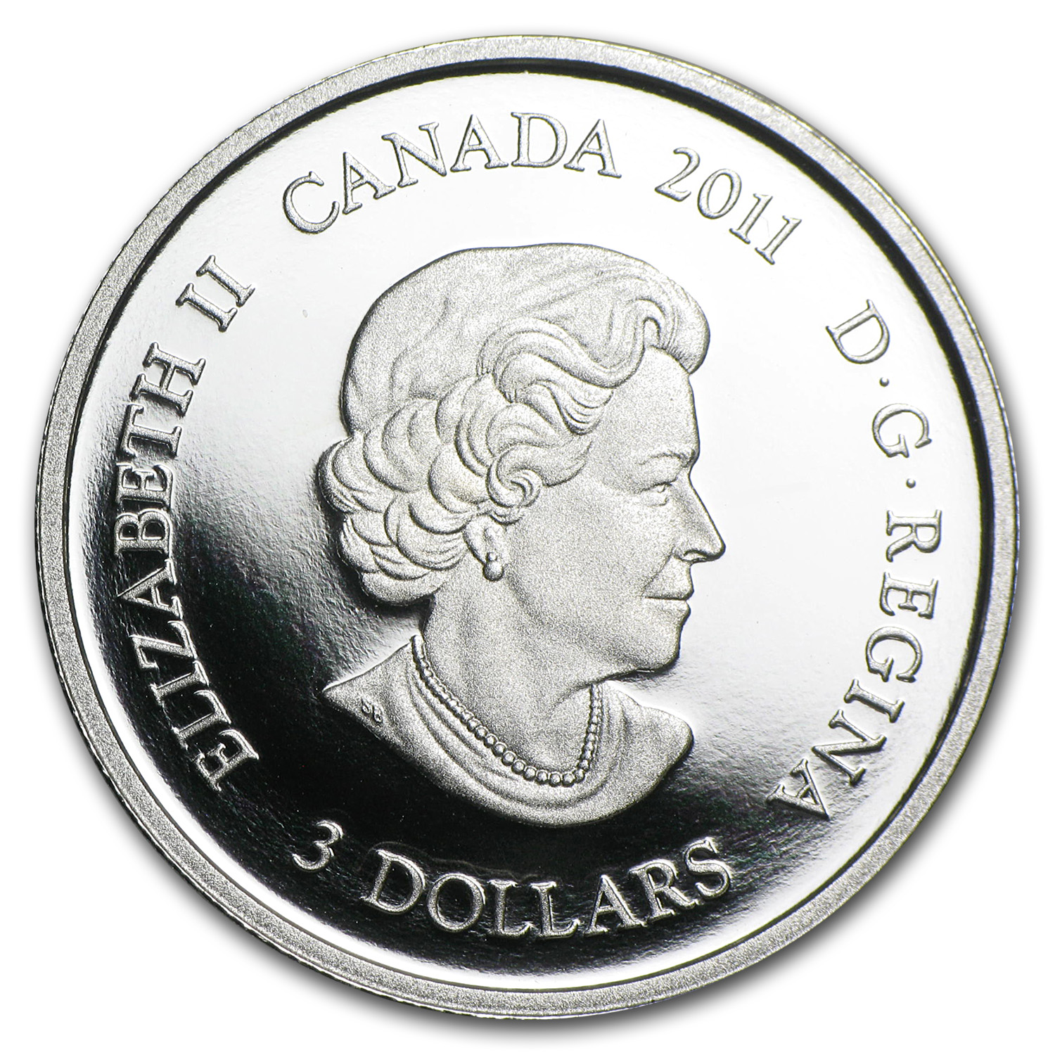 2011 1/4 oz Proof Silver Canadian $3 Family Scene